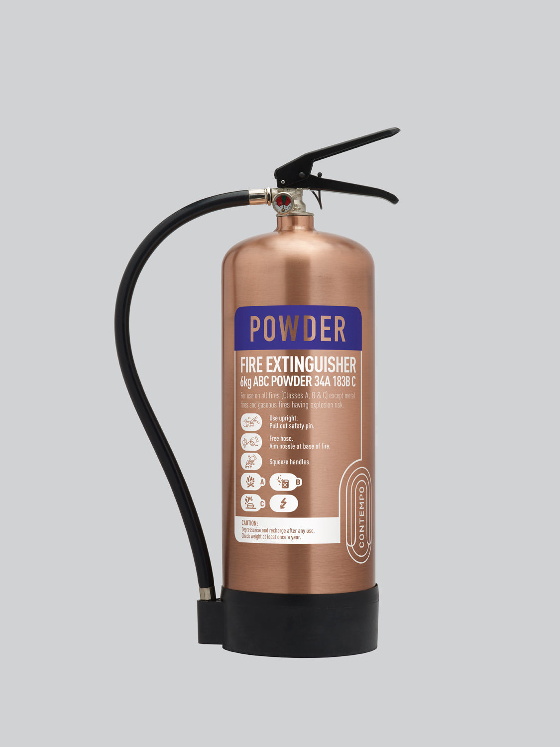 Commander Contempo 6kg ABC Dry Powder - Antique Copper - HartsonFire
