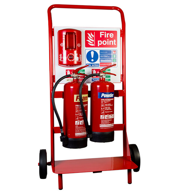 Fire Point Stand - Double with Back Board - HartsonFire
