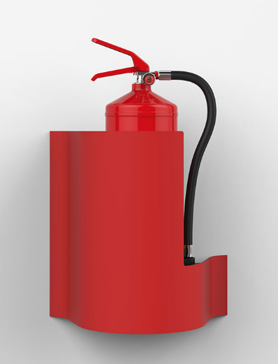 Wave Wall Extinguisher Stand - Red - HartsonFire