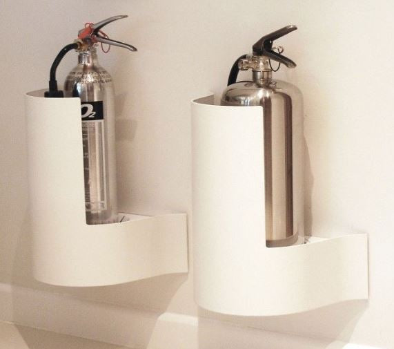 Wave Wall Extinguisher Stand - White - HartsonFire