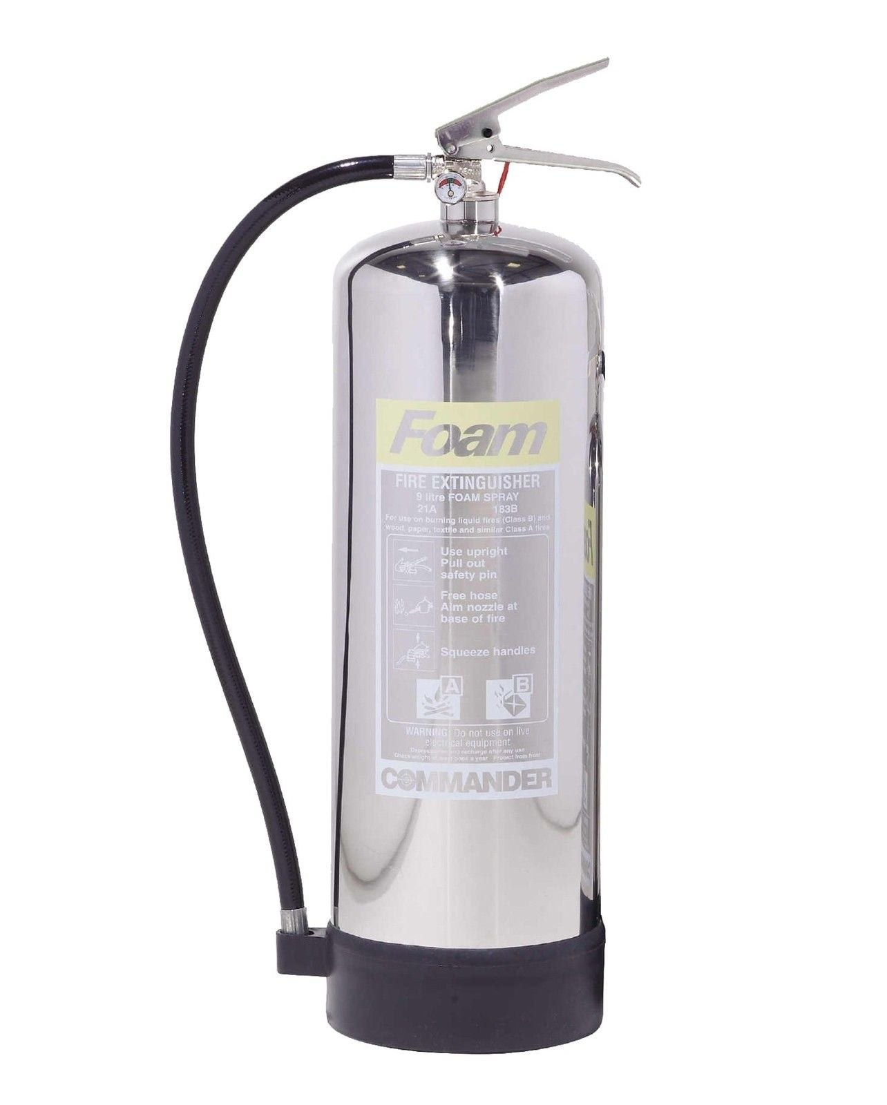 Commander Contempo 9ltr AFF Foam - Stainless Steel - HartsonFire