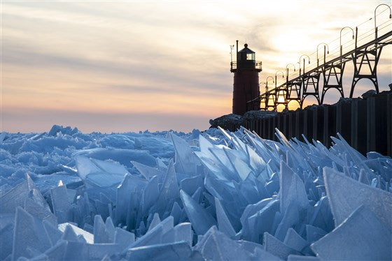 Lake Michigan Ice Shards - Little Miss Meteo
