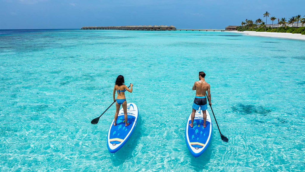 Paddleboarding in the Maldives - Maldives | Little Miss Meteo