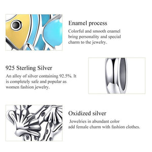 925 Sterling Silver Underwater World Tropical Fish