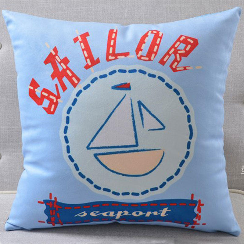 Watercolor Style Marine Cushion Covers