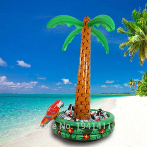 Coconut Tree and Parrot Inflatable Cooler
