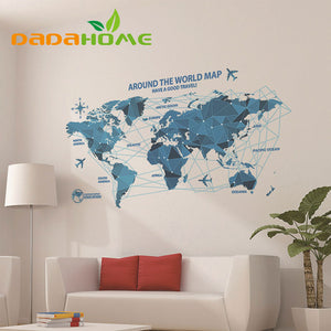Around the World Map Sticker