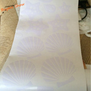 Sea Shells Vinyl Stickers (30 pcs)