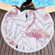 Pink Flamingo Round Beach Towels & Bags - 42 Designs