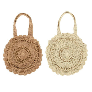 Large Woven Straw Tote Bag
