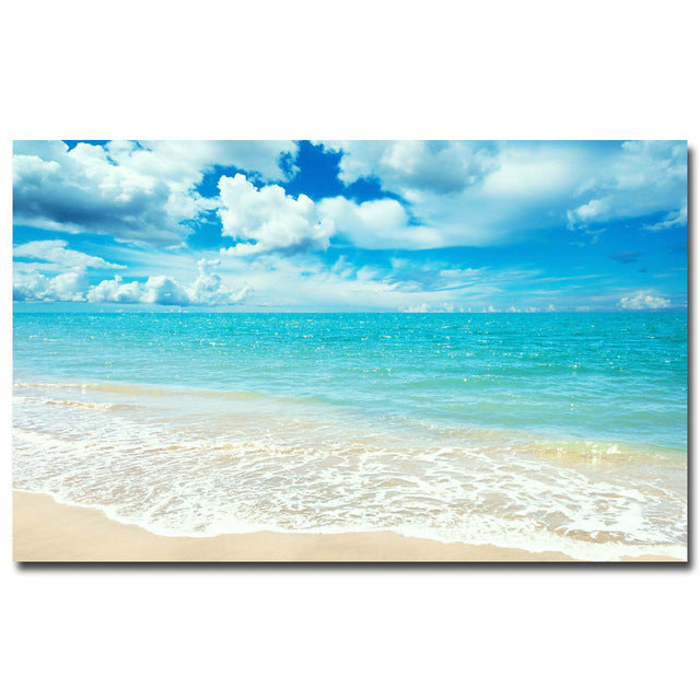 Tropical Beaches & Palmtrees Silk Posters