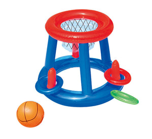 Inflatable Basketball and Ring Toss Game (2-in-1)