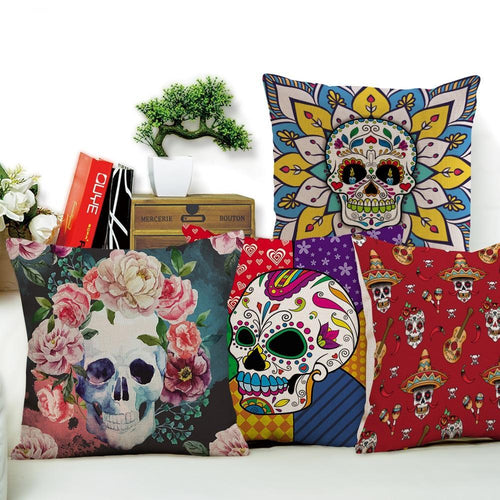 Sugar Skull Cushion Covers | Little Miss Meteo