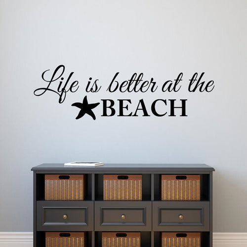 Life is Better at the Beach Vinyl Stickers | Little Miss Meteo