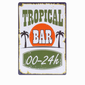 Tropical Bar Plate | Little Miss Meteo