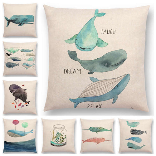 Whales Cushion Covers