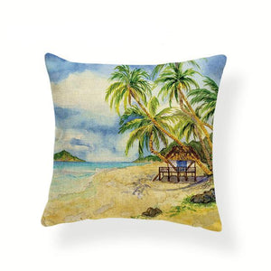 Retro Beaches Cushion Covers