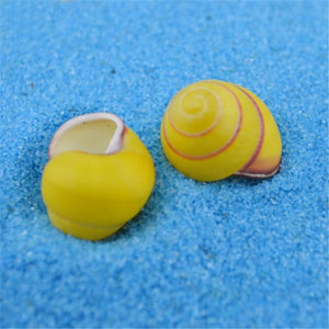 Yellow Snail Seashells | Little Miss Meteo