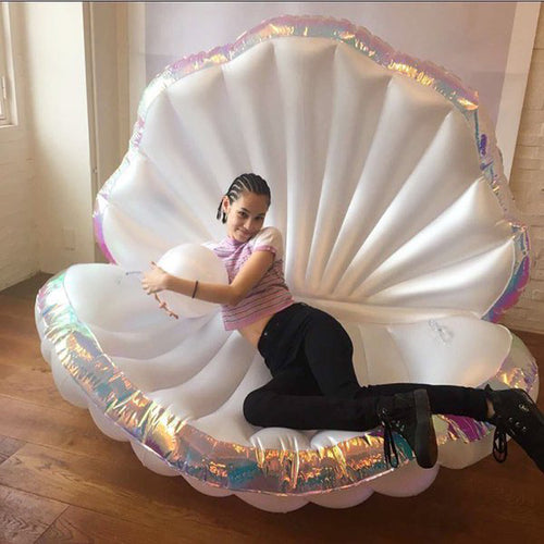 Giant Inflatable Shell Floating Bed | Little Miss Meteo