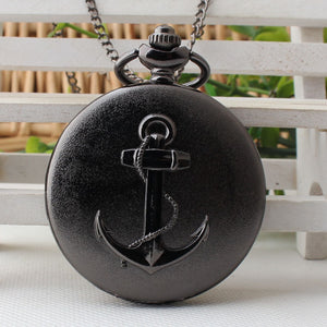 Black Anchor Pocket Watch | Little Miss Meteo