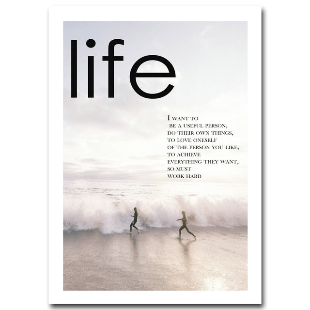Life and Sea Poster - Motivational Quotes
