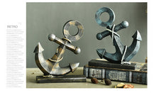 Vintage Anchor and Rudder Ornaments