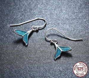 925 Sterling Silver Whale Tail Earrings | Little Miss Meteo