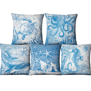 Blue Sea Cushion Covers