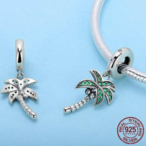925 Sterling Silver Coconut Tree Pendant | Little Miss Meteo