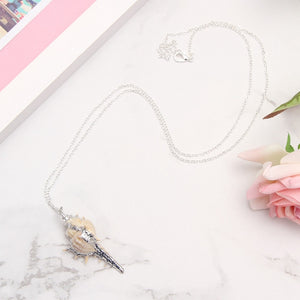 Natural Conch Shell Pendant + Necklace | Little Miss Meteo