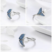925 Sterling Silver Adjustable Dolphin Tail Ring | Little Miss Meteo