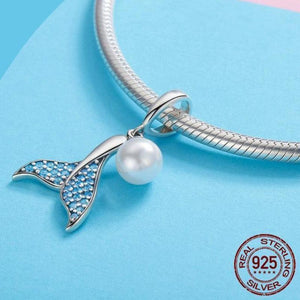 925 Sterling Silver Dolphin Tail Pendant | Little Miss Meteo