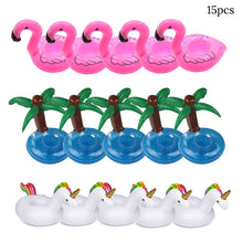 Coconut Trees, Pink Flamingos & Unicorns inflatable Drink Holders | Little Miss Meteo