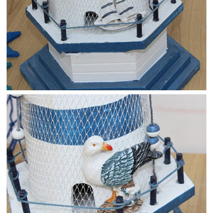 Wooden Lighthouse Handmade Craft | Little Miss Meteo