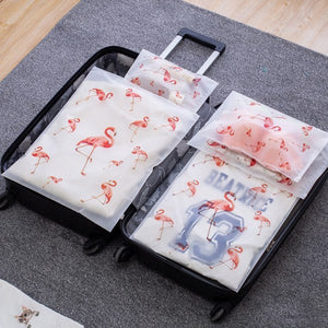 Transparent Travel Bags - Flamingo Collection | Little Miss Meteo