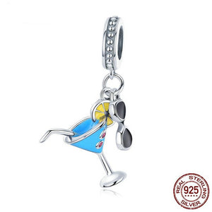 925 Sterling Cocktail and Sunglasses Pendant | Little Miss Meteo