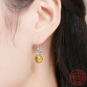 925 Sterling Silver Pineapple Earrings | Little Miss Meteo