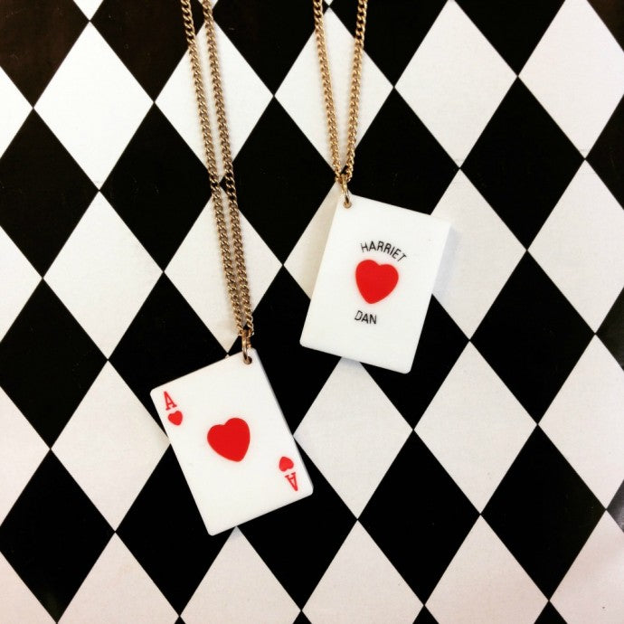 PERSONALISE YOUR OWN ACE OF HEARTS NECKLACE AT COVENT GARDEN