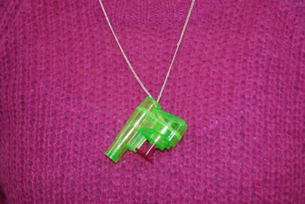 Go crackers! How to make jewellery out of your cracker prizes. Part 3 - Water Pistol Necklace