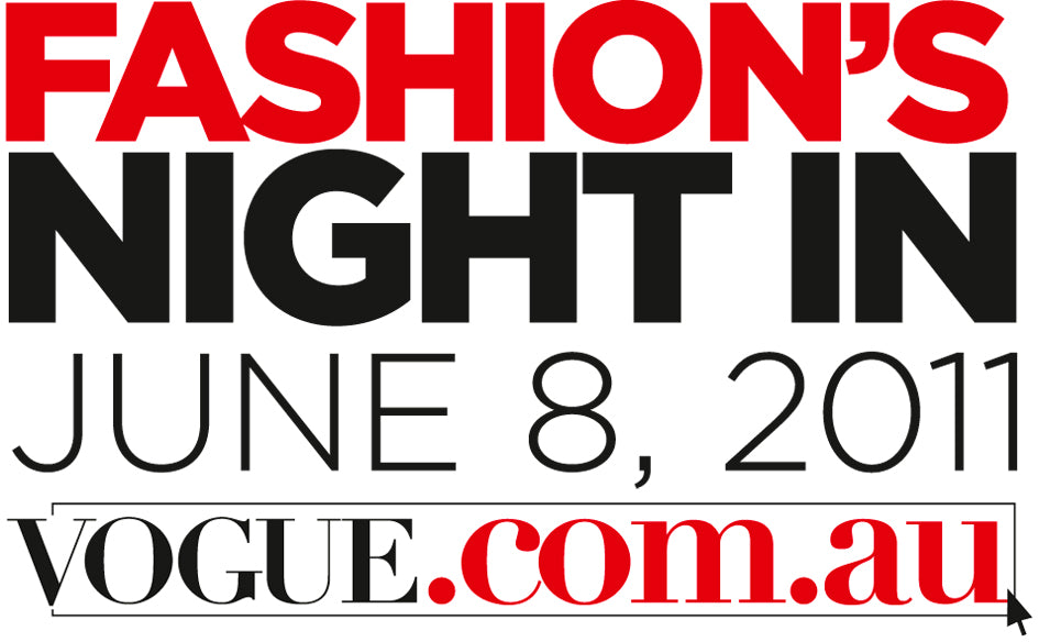 Hey! Australians! Join us for VOGUE Fashion's Night In