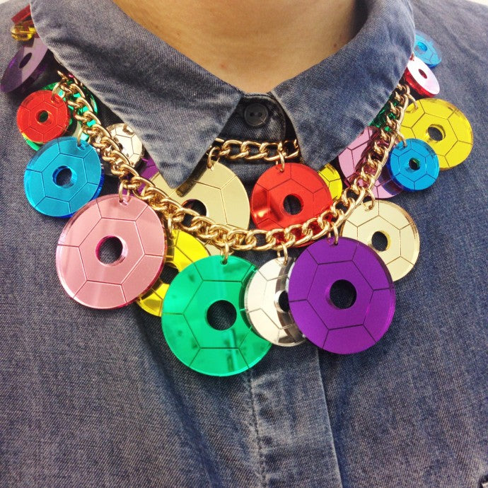 GET YOUR HANDS ON A SEQUIN PARTY STATEMENT NECKLACE FOR £50!