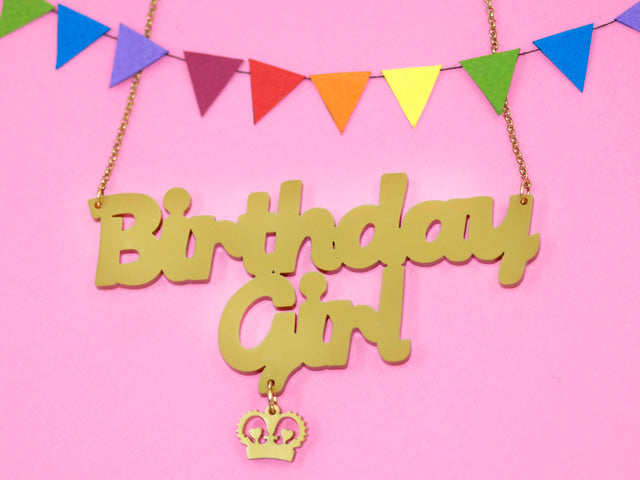 Birthday Girl Name Necklace Giveaway!