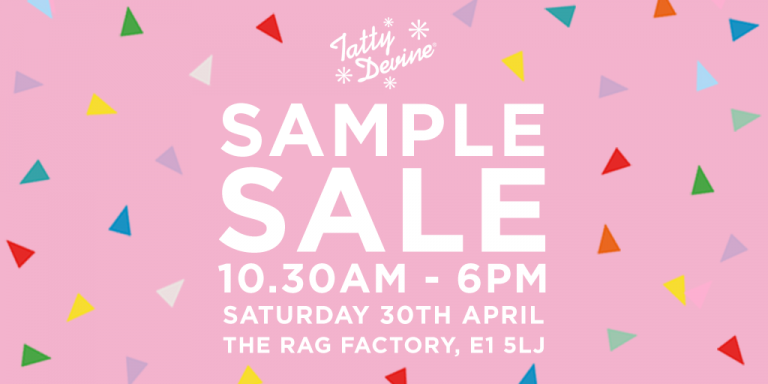 OUR SAMPLE SALE IS COMING!