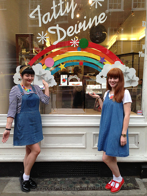 Rainbows spotted at Tatty Devine!