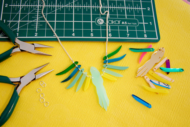 Take a peek at our Parakeet Necklace Workshop
