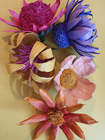 Flowers made by Harriet Vine from recycled The Fantastical Factory of Curious Craft