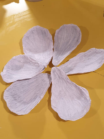 Flower papier mache craft