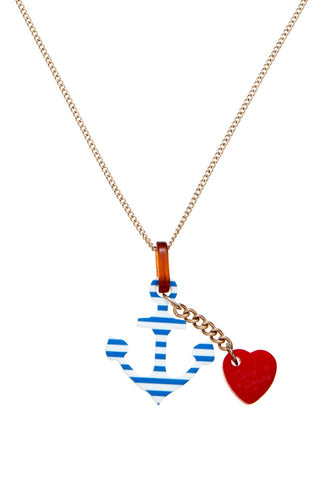 breton anchor necklace