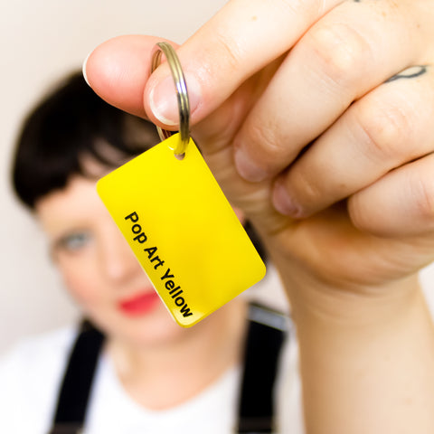 Colour Swatch Keyring - Pop Art Yellow