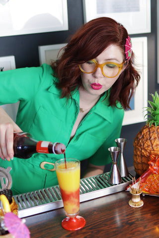 cocktail making with pip jolley
